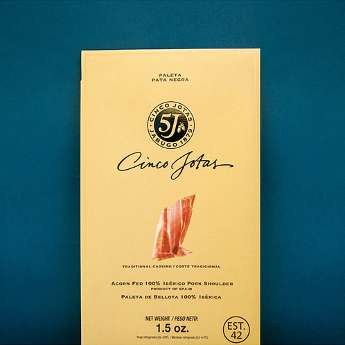 Paleta Iberico Bellota, Siced Ham 1.5 oz