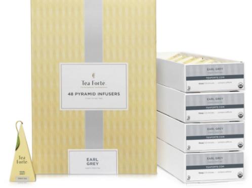 Tea Forte Earl Grey Black Tea, 48 Infusers