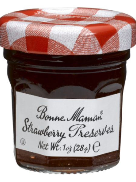 Bonne Maman Strawberry Preserve - 1 oz x 60 (1 case)