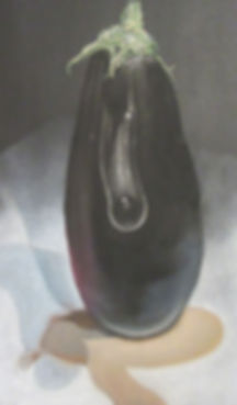 15. Elephant Eggplant 2015 pastel 50x30.