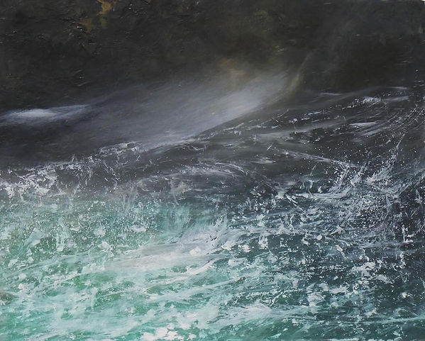 Adele Gibson Green Sea and Ancient Rock.