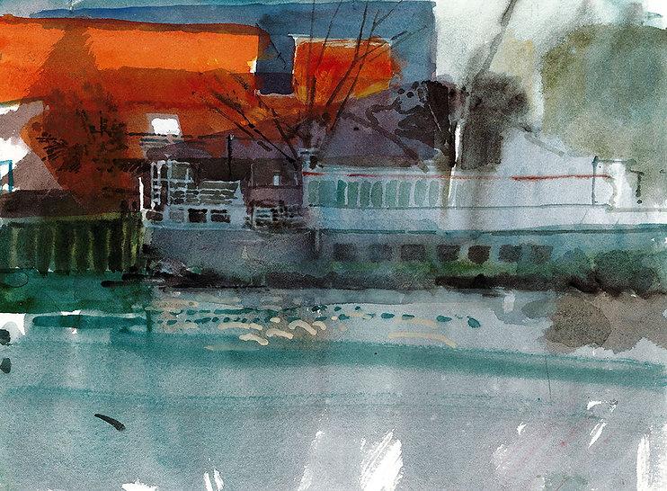 Thames,_Low_tide_in_Winter._watercolour,