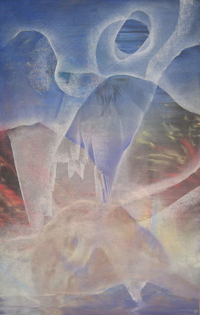 5. Submerged Cathedral 1998 pastel 83x58