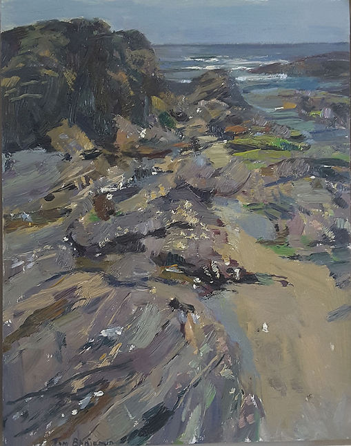 230320 Hemmick Beach, Cornwall 2019 oil