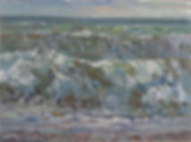 230320 Rough Sea 2 2019 29cm x 40cm oil