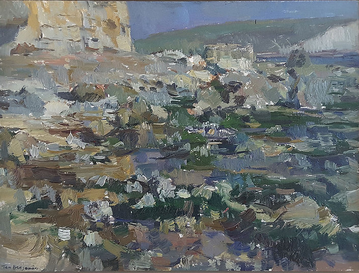 2018 Foreshore, Low Tide Oil on Board 23