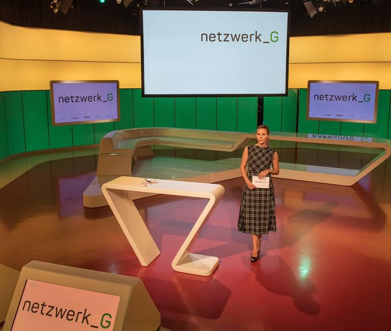Netzwerk G Kongressmoderatorin Sarah Andrina Schütz