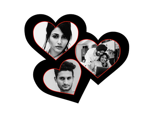 3 Heart Collage