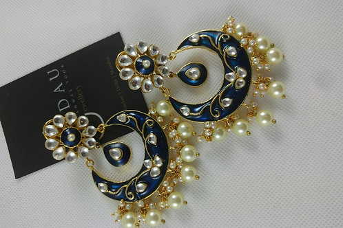 Hand Painted Large Chand Balis