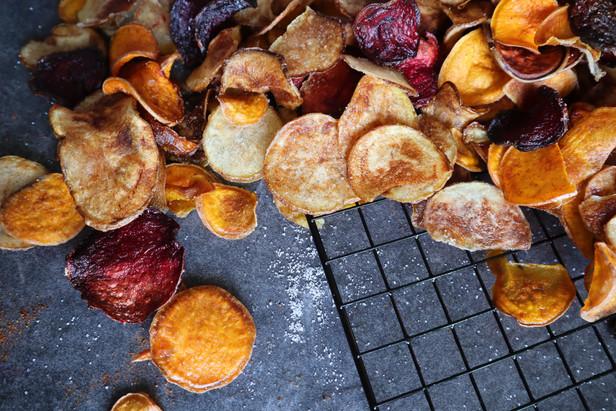 Homemade BBQ Kettle Chips
