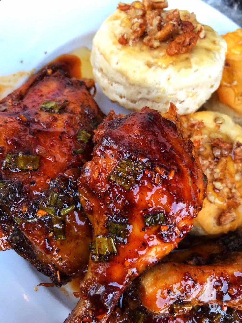 Sticky Bourbon Chicken