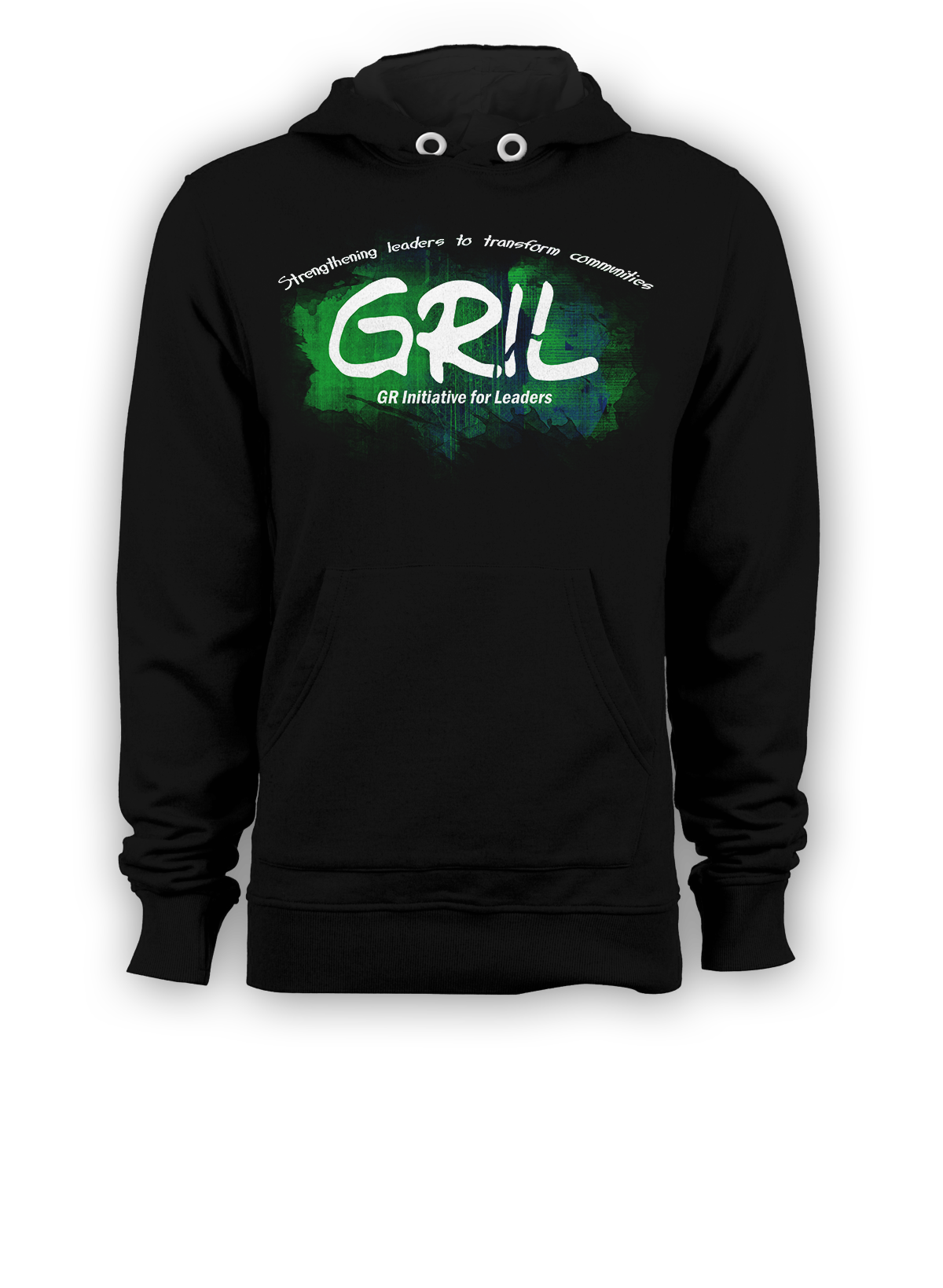 GRIL Pullover Hoodie Front Black