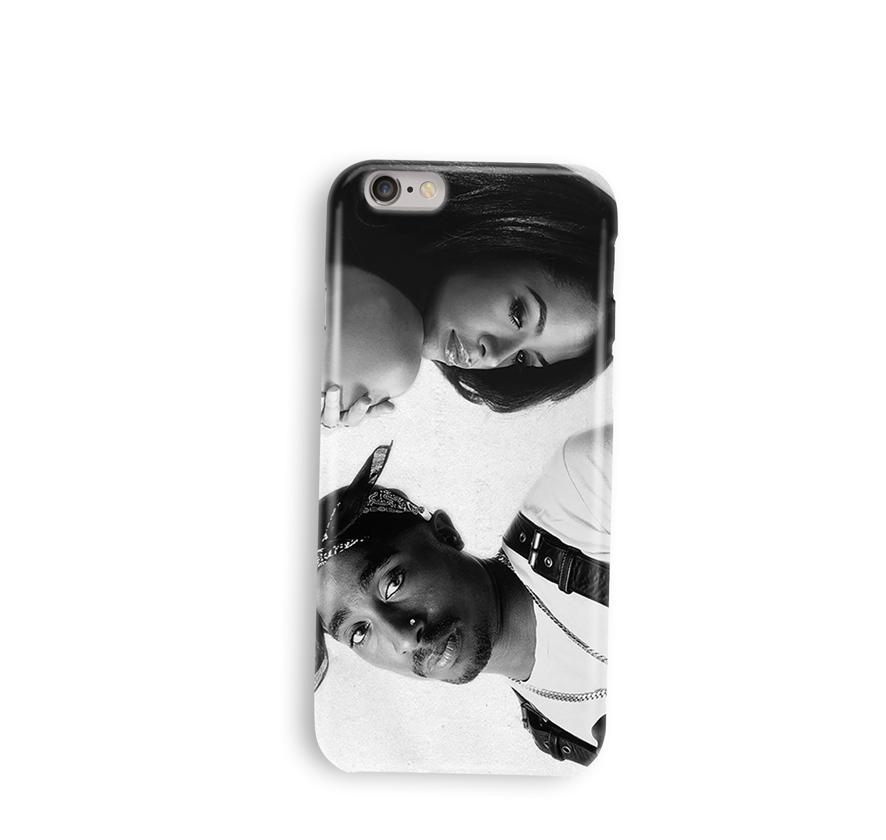 Custom Aaliyah & Tupac iPhone Case