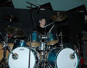 Richard Berends, drums.