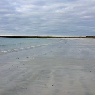 Beautiful empty beaches...not unusual for Orkney.