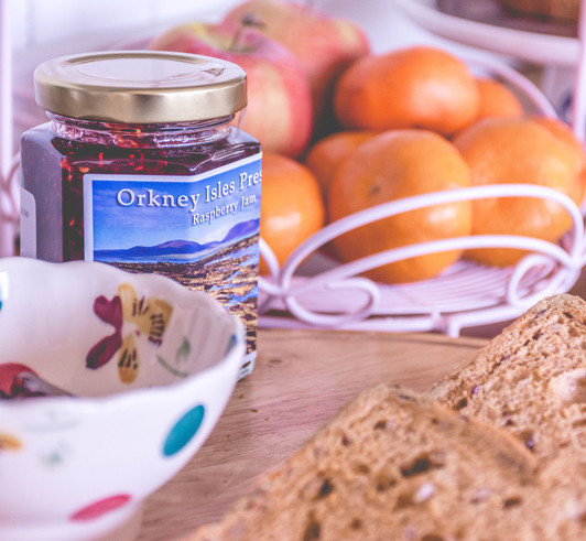 Breakfast with local Orkney produce