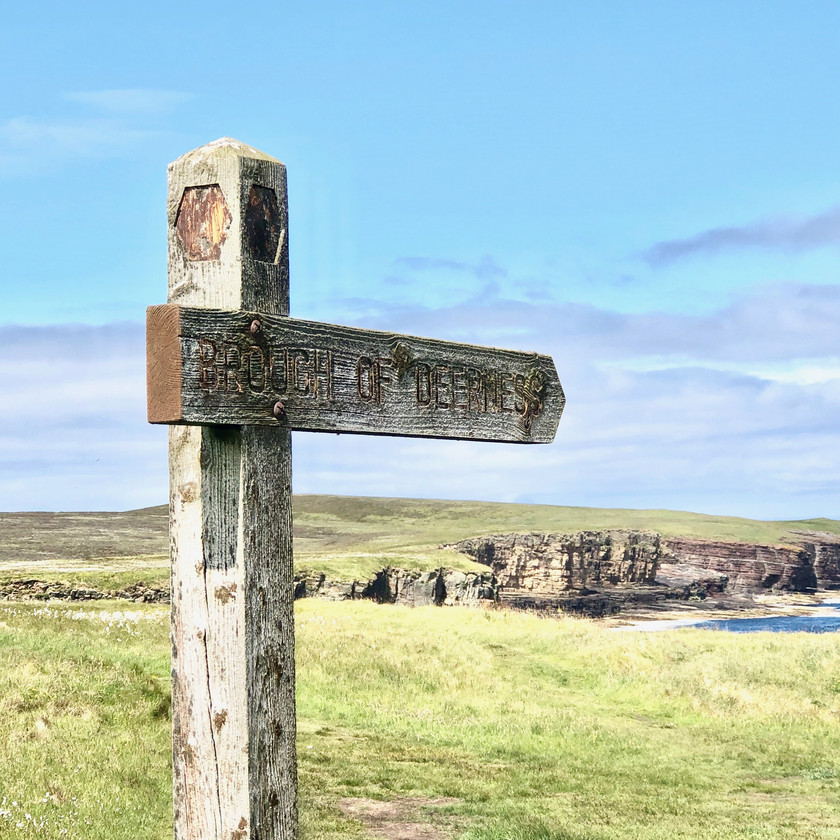 Sign for Brough of Deerness