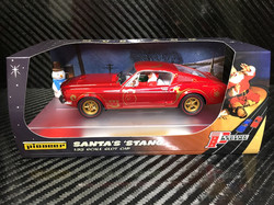 P074 Santa's 'Stang Candy Cane Red