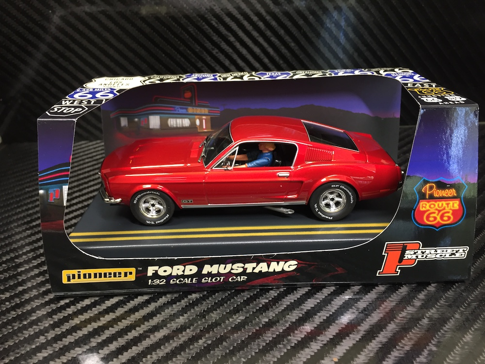 P057 Candy Red 'Route 66' Mustang