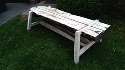 Split log Sycamore bench
