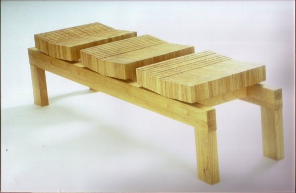 Rubberwood gallery bench