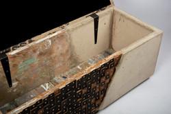 cast bench open lid view inside