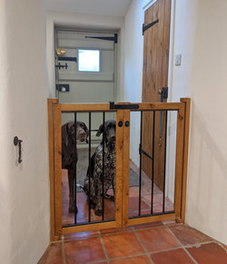 Character Oak Dog gates with handmade me