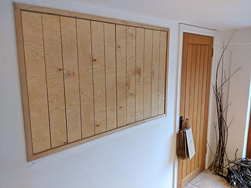 Birch Plywood Concertina serving hatch
