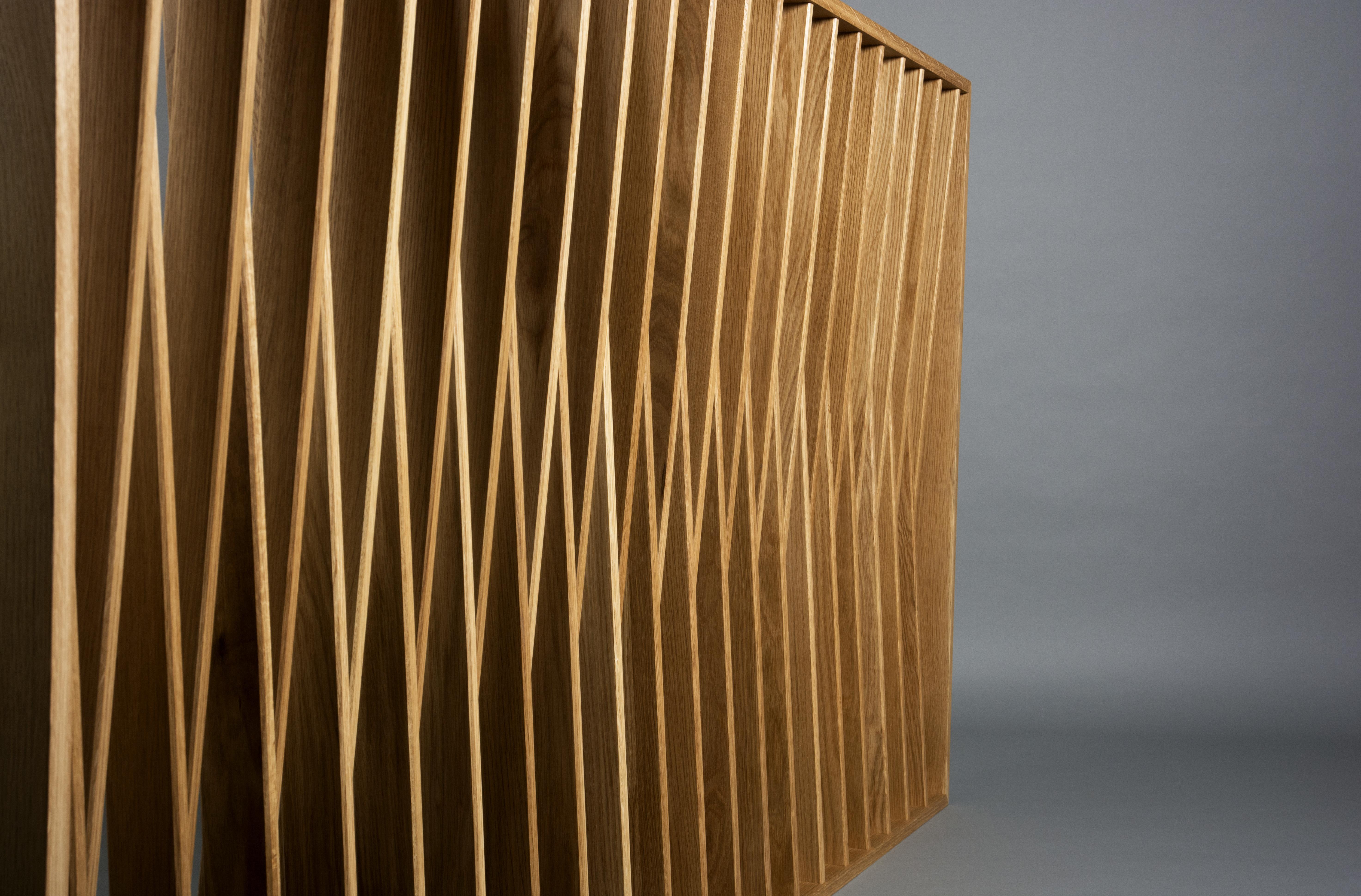 Oak room divider