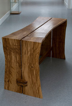 Tiger Oak and stainless steel kitchen ta