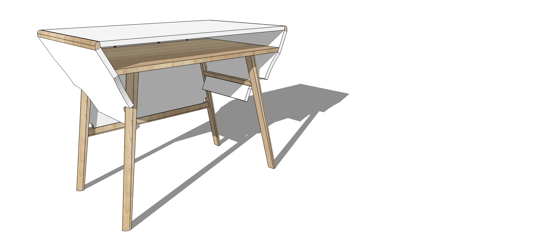 Reading room desk design