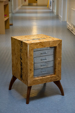 Recycled filing drawers and OSB