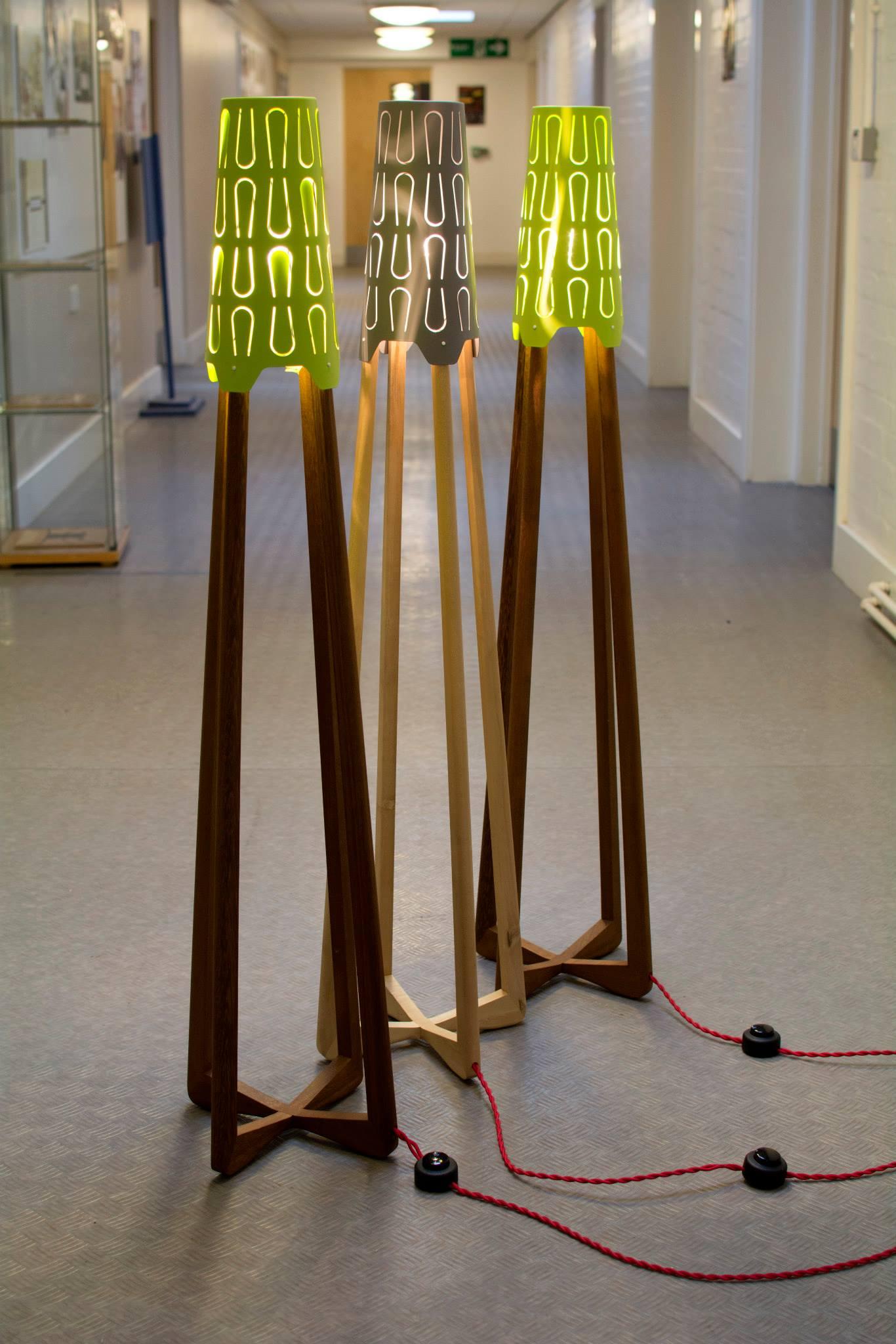 Floor lamps, Iroko and Maple with Ikea s