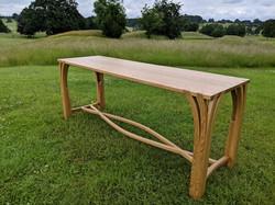 Steam bent Oak console table
