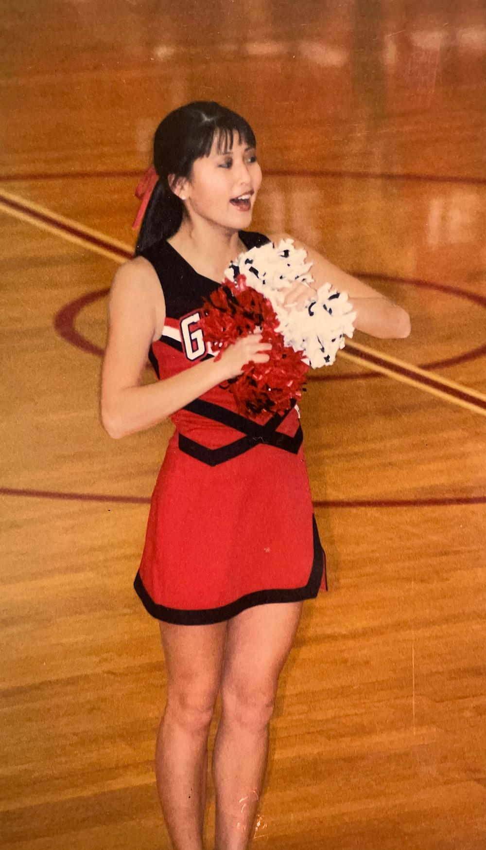 Cheerleader Molly because I don't have any photos of elementary molly