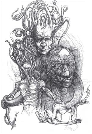 Lovecraftian doodle.