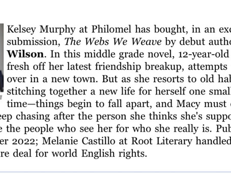 My First Middle Grade Novel has been announced!