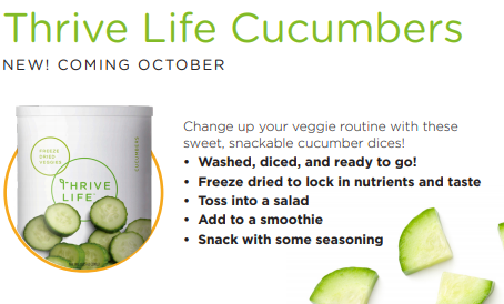 Thrive Life New Products Announced - New in October