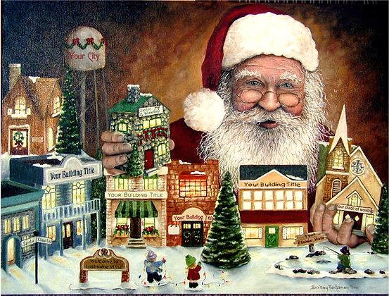 Large Santa Claus Lane Print (18X24)