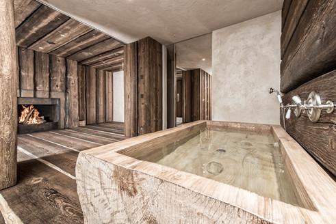 Chesa Aivla Bathroom, St Moritz, Switzerland
