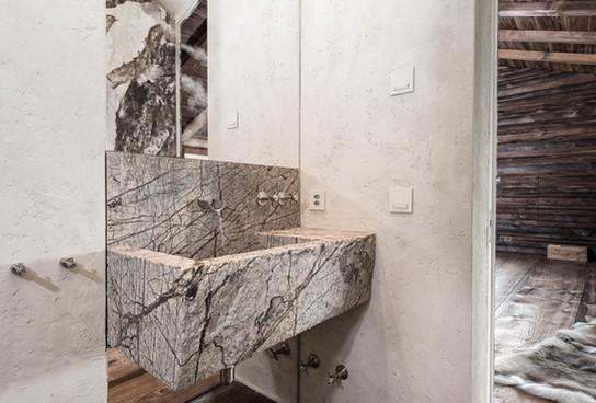 Chesa Aivla Toilet sink, St Moritz, Switzerland