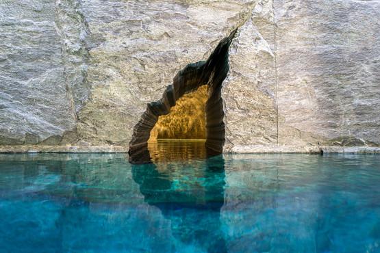 Chesa Aivla Pool, St Moritz, Switzerland