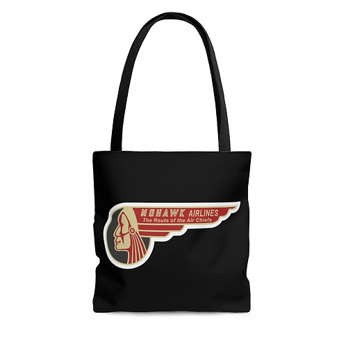 Mohawk Airlines black tote bag