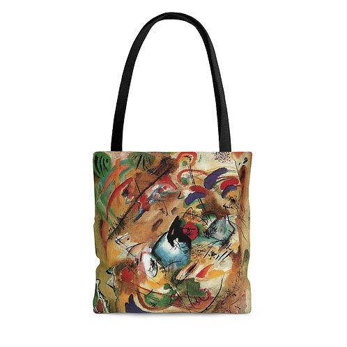 Wassilly Kandinsky's Improvisation Dreamy black tote