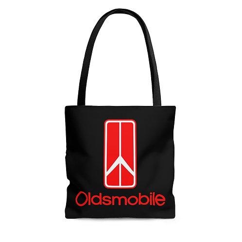 Oldsmobile 70s black tote bag