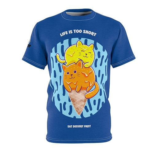 Catastic: Life Is Too Short - AOP Cut & Sew Tee