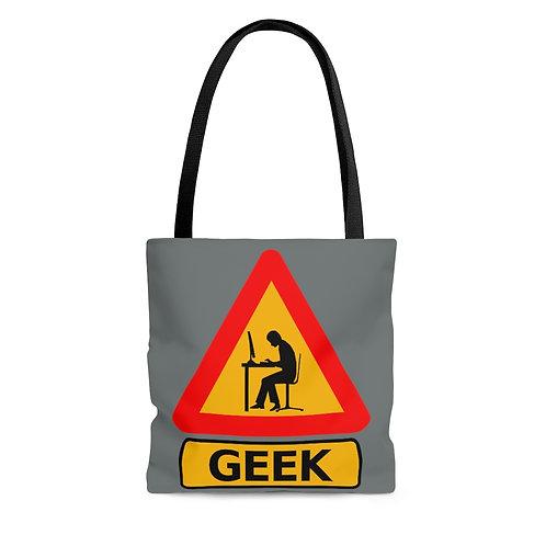 Caution: Geek Grey Tote