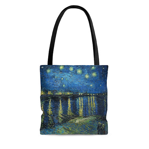 Vincent van Gogh's Starry Night Over The Rhone black tote