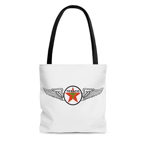 Texaco white tote bag