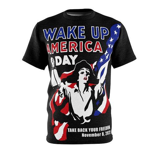 Wake Up America - AOP Cut & Sew Tee